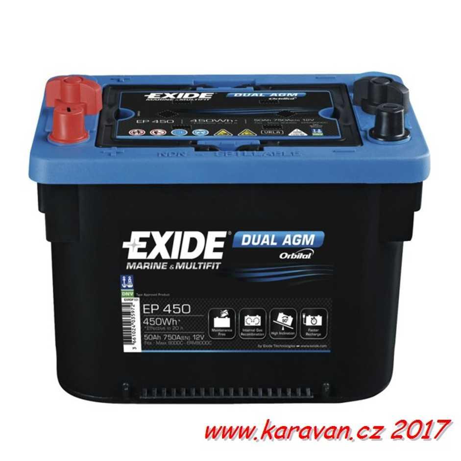 Akumulátor Exide Dual AGM 50Ah 260x173x206mm 18,64kg