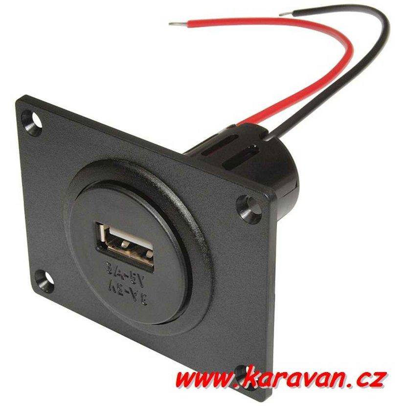 48f584481 Vestavná zásuvka PRO CAR 12V na 1x USB 3000mA